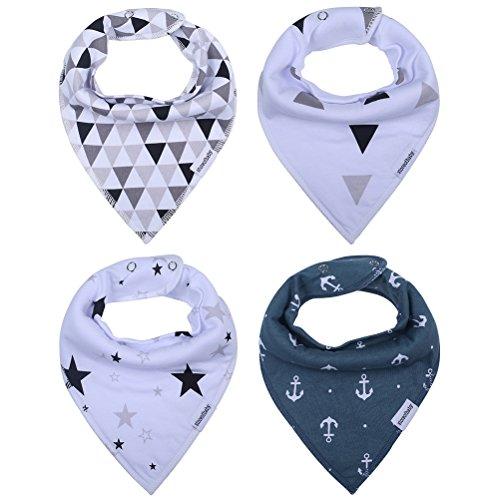 Storeofbaby Baby Bandana Drool Bibs for Boys Grils Teething Feeding, Stylish Shower Gift Set(Pack of 4)