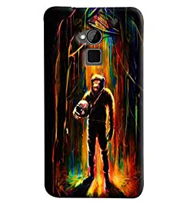Blue Throat Monkey Man Printed Designer Back Cover/Case For HTC One Max