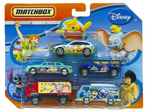 Buy Low Price Mattel Matchbox Disney Lilo & Stitch, Peter Pan, The Jungle Book, Dumbo, and Winnie The Pooh 5 Pack Cars Figure (B004GW0K8K)