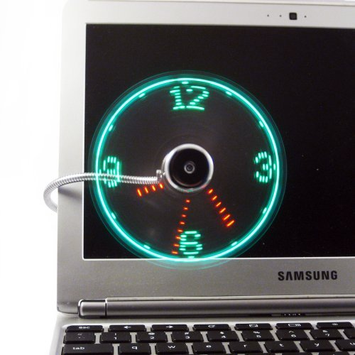 EASY Real Time Clock LED Display USB Fan