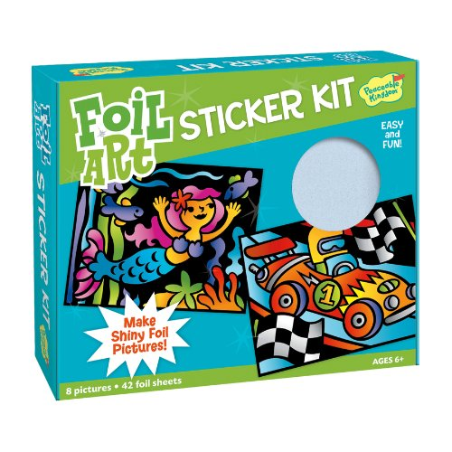 Peaceable Kingdom / Foil Art Sticker Kit front-631768