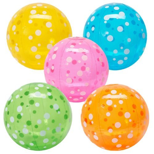 Inflatable Polka-Dot Beach Balls (1 dz) [Toy] Model: IN-49-187-P