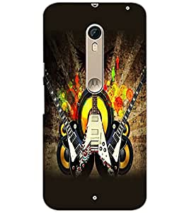 PrintDhaba Guitar D-5411 Back Case Cover for MOTOROLA MOTO X STYLE (Multi-Coloured)