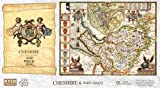 Cheshire Historical Map 1000 Piece Jigsaw Puzzle (1610). Free print!