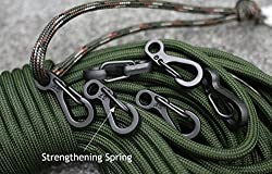 Mini SF Carabiners Spring Backpack Clasps EDC Keychain Carabiner for Climbing Camping Bottle Hooks Paracord Tactical Survival Gear 12pcs Lot by Ontrip Black