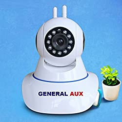General Aux G1 PTZ PRO SUPER SMART Dual Antenna WIFI Smart Net Camera IR Cut Wireless PTZ Two Way Talk Smart Cloud Night Vision Security Camera Motion Detection HD 720P P2P Baby Monitor IP CCTV Camera 64GB Memory Card Slot
