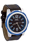 Oudi Black Dial With Blue Details With Black Strap Watch For Men