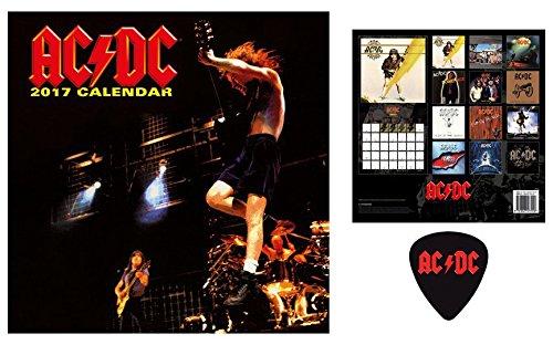 Set: AC/DC, Calendario Ufficiale 2017 (30x30 cm) e 1x Sticker Adesivo (9x9 cm)