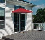 OFF-THE-WALL BRELLA 9 Ft. Half Umbrella - Red - Sunbrella
