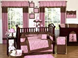 JoJo Designs 9-Piece Baby Crib Bedding Set - Pink and Brown Paisley
