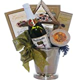 Art of Appreciation Gift Baskets   Congratulations and Cheers to You, Gourmet Food Ice Bucket With Caviar