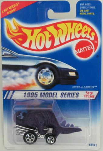 Hot Wheels 1995-345 Model Series 4 of 12 PURPLE Speed-a-saurus 1:64 Scale - 1