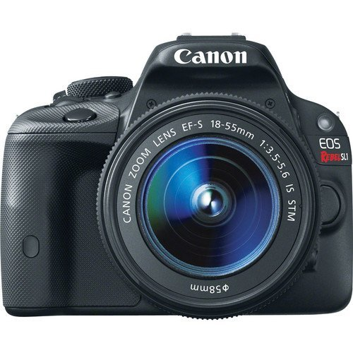 Canon-EOS-Rebel-SL1-18-Megapixel-Digital-SLR-Camera-Body-with-Lens-Kit-EF-S-18-55mm-f35-56-IS-STM-8575B003-International-Version-No-warranty
