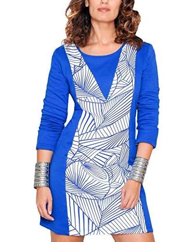 H.H.G. Vestido Azul / Blanco