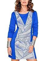 HHG Vestido (Azul / Blanco)