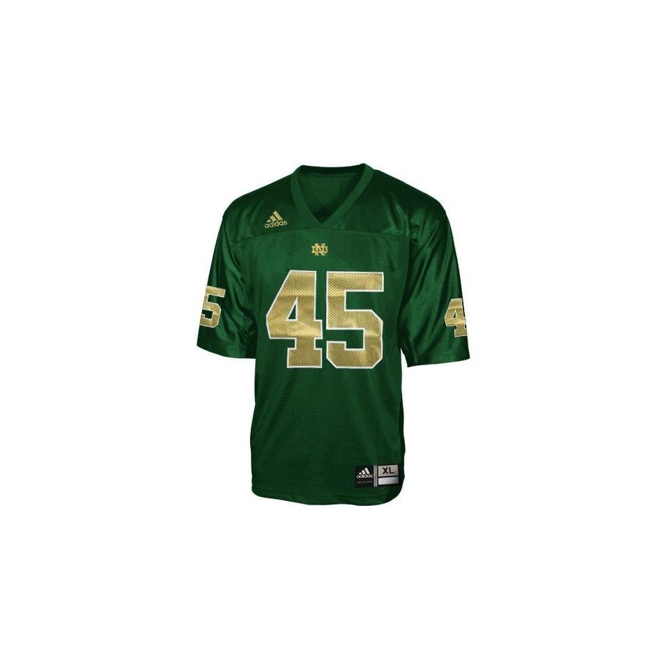 adidas Notre Dame Fighting Irish #45 Green Replica Football Jersey