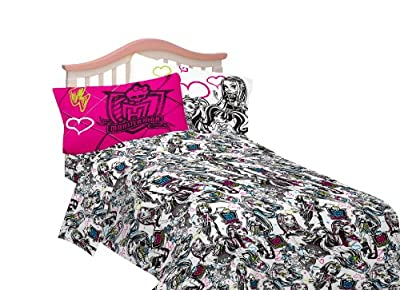 Mattel Sheet Set, Twin, Monster High Ghouls Rule from Franco Manufacturing Co., Inc.