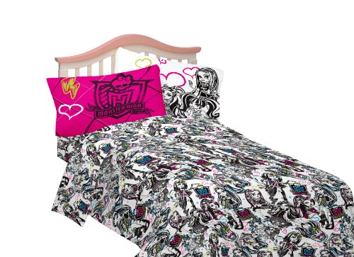 Best Deals! Mattel Microfiber Sheet Set, Full, Monster High Ghouls Rule