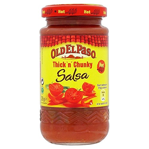 Old El Paso Thick 'n' Chunky Hot Salsa (226g) - Packung mit 2