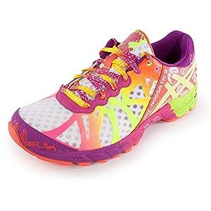 ASICS Women's Gel-Noosa Tri 9 Running Shoe,White/Flash Yellow/Plum,9 M US