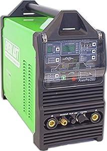 Everlast PowerPro 256D Digital ACDC Tig Stick Pulse Plasma Cutter Multi Process Welder, Green from Everlast Power Equipment