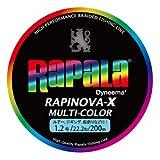 Rapala(ラパラ) ライン ラピノヴァXマルチカラー1.2号/22.2lb/10kg/200m RXC200M12MC