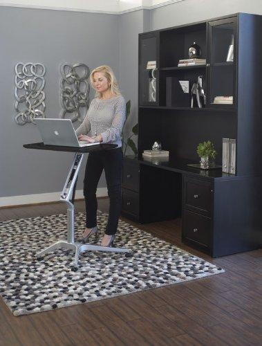 Premium Sit or Stand Adjustable Computer Desk in Espresso or Walnut