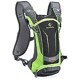 Paladineer 8L Hydration Backpack Daypack Cycling Pack Sport Bag Hiking Backpack Bike Backpack Green