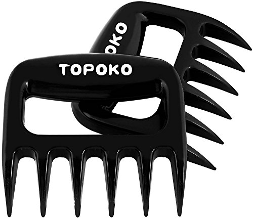 STRONGEST BBQ Meat Handler Forks-Pulled Pork Shredder Claws-Shredding Handling & Carving Food-Claw Handler Set for Pulling Brisket from Grill Smoker or Slow Cooker - BPA Free Barbecue Paws (Stainless Steel Meat Shredder compare prices)