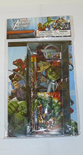 Marvel Avengers Assemble 7 Piece Sketchbook Set