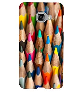 Printvisa Lite colour Pencils Backcover For Samsung C5 (Multi)