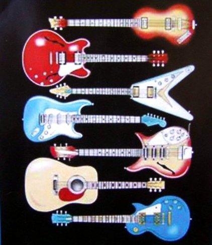Guitar Fleece Blanket front-721573