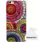 iPhone 6 Case,Flower Rubber TPU Gel S...