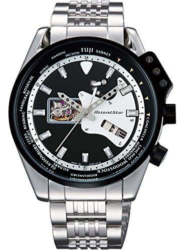 [オリエント]ORIENT 腕時計 ORIENTSTAR オリエントスター レトロフューチャー ギターモデル 機械式 自動巻き (手巻き付き)  ブラック WZ0201DA メンズ