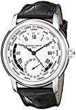 Frederique Constant Men's FC718MC4H6 World Timer Analog Display Swiss Automatic Black Watch thumbnail