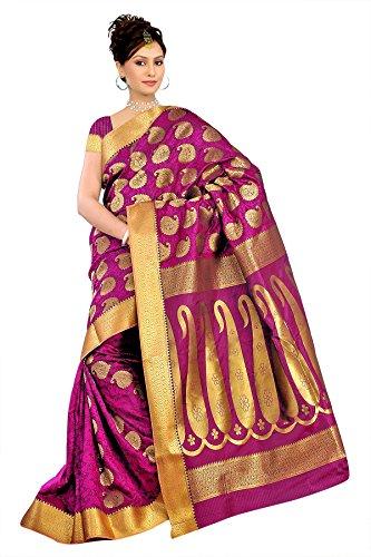 Varkala Silk Sarees Silk Kanchipuram Saree With Blouse Piece (SS3110R_Rani)