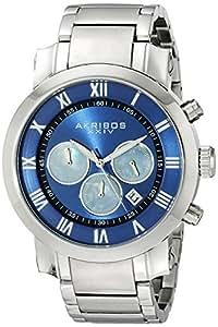 Akribos XXIV Men's AK622BU Grandiose Chronograph Quartz Stainless Steel Bracelet Watch