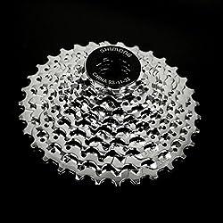 Generic Mountain Bike 9 Speed Freewheel 11-32T Bike Gear Chrome Cassette Sprockets