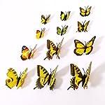 NO:1 12pcs Fashion 3D Butterfly Magne...