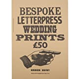 Bespoke Letterpress Wedding Print (Unframed)