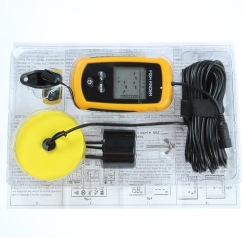 Lychee fish finder new portable sonar lcd alarm sea for Ice fishing fish finders