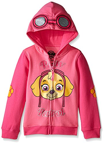 [Paw Patrol Little Girls' Skye Toddler Hoodie, Hot Pink/Heather Pink, 5T] (Paw Patrol Costumes Skye)