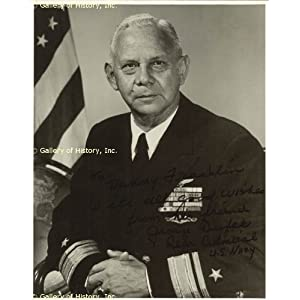 ADMIRAL GEORGE DUFEK - INSCRIBED PHOTOGRAPH SIGNED at