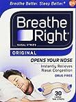 Breathe Right Nasal Strips, Large, Ta...