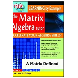 Matrix Algebra Tutor: A Matrix Defined
