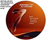WINDOWS 7 ALL EDITIONS 32 and 64 BIT PRE-ACTIVATED