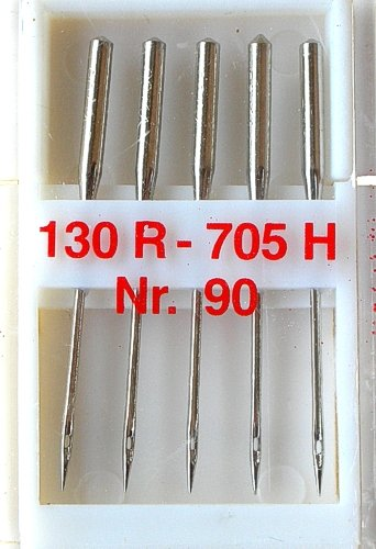 5 Nähmaschinennadeln Universal Nr.90 Flachkolben 130R/705H für Nähmaschine, 0100