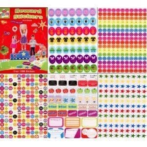 Over 1000 reward stickers childrens teachers smiley face stars and more