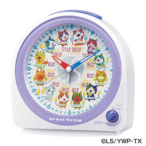 SEIKO CLOCK(セイコークロック) 妖怪ウォッチ クオーツ目覚し時計(白パール塗装) CQ145W