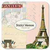 Cavallini - Sticky Memos/Post It Notes - Vintage Paris - 3 Sticky Note Pads/60 sheets per pad